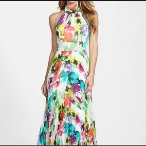 Gorgeous Eliza J long floral halter dress 14